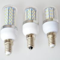 2pc/lot High Power 5W E27 E14 3014 SMD 78 LED Corn Bulbs AC85-265V Warm White/ White Super Bright