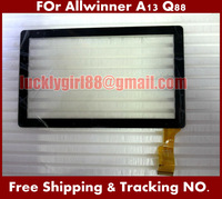 "Promotion 20 pcs/lot 7"" inch PrestigioTouch Screen Digitizer Allwinner A13 Q88 ATM7013 Touch Screen Replacement Tablet Tablet Pc"