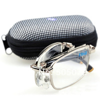 Free shipping New hot sale folding metal frame reading glasses 100 150 200 250 300 H0878 Cnshop P