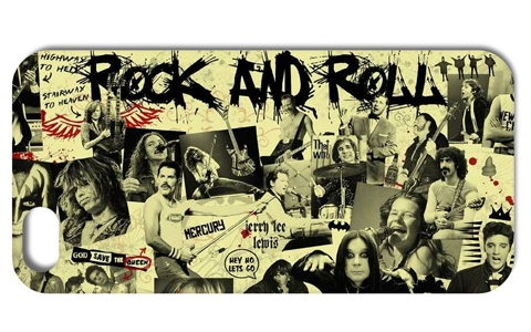 1PC ROCK AND ROLL Hard Back Cover Case for Iphone 4 4S 5 5S 5C 6 PLUS Free Shipping 003(China (Mainland))