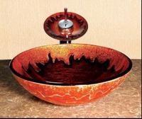 Art basin tempered glass basin counter basin wash basin wash basin