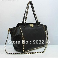 luxury brand handbag lady rockstud shoulder bag women rockstuds tote bag in black nappa leather