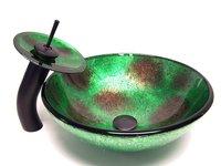 Art basin tempered glass basin glass basin glass basin wash basin faucet set