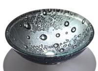 Double wash basin tempered glass basin wash basin