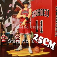 New 2014 hot toys classic Japanese anime pvc action figure Shohoku No.11 player Rukawa Kaede large model collectible figurine