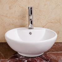 Pure white washbasin ceramic fashion art basin bathroom counter basin