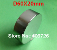 WholeSale! Craft Model Powerful Strong Rare Earth NdFeB Block Magnet Neodymium N42 Magnets D60X20mm  + Free Shipping