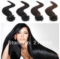 "Free Shipping 22""/55cm 100Pcs 50g 100% Remy Stick U Nail Tip Human Hair Extensions Brazilian Virgin hair"