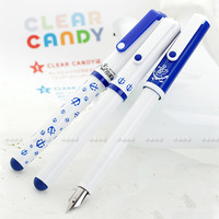 Sailor edition candy fountain pen clear candy navy paragraph