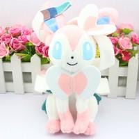 "Retail 1pcs Pokemon Eevee Sylveon 10"" 25cm Plush Stuffed Doll cartoon toy Brand New"