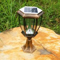 Solar outdoor waterproof villa fence post Streetlights / LED light sensor switch automatically lights up the night