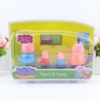 5-10cm 4pcs/pack  Peppa Pig Family Toys DOLL,Pepa Pig Family action figure doll,Peppa Pig party  peppa pig figures