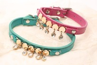Free shipping New 2014 Smooth Lifting Chain Pet Collars Pet Products Wholesale (2pcs/lot)