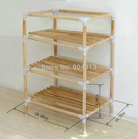 quality goods,YJJ-3 The original wood multifunctional shelf, shoe rack, flower shelf, Six tiers of storage