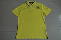 Dortmund Yellow Soccer polo Shirt 2014-2015 A+++Top Thailand Quality Dortmund Yellow Original logo Free shipping Size S-XL