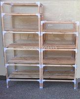 quality goods,YJJ-54 The original wood multifunctional shelf, shoe rack, flower shelf, Six tiers of storage