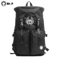 Mr . pmagic spider backpack school bag male women's handbag fashion fashionable casual sports