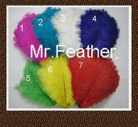 "EMS Free Shipping 200pcs Mix 4 colors Ostrich Feather Ostrich Plume 40-45cm 16-18"" Dyed Ostrich Feather for Wedding centerpieces"