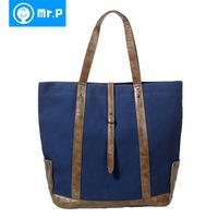 Mr . pcom shoulder bag handbag male women's handbag fashion vintage fashionable casual all-match large bags tote bag