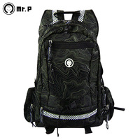 Large capacity mr.p jungle male fashion backpack fashion backpack casual travel outdoor computer bag