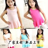 Free Shipping  New Design Children's Clothing Kid's 2014 Small Dress Sleeveless Summer Dress Female Child One-Piece Dress