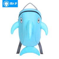 Kindergarten school bag dolphin mr.p small school bag child backpack male female double-shoulder child bag infant