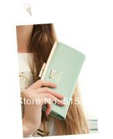 Sweet fresh bow wallet long design womens wallet
