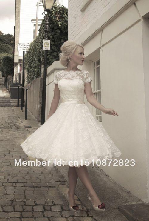 Short Lace Wedding Dress Tumblr - Amore Wedding Dresses