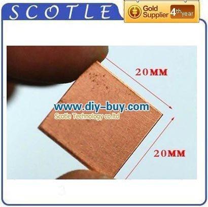 Freeshipping 5pcs/lot 20mm*20mm Copper Shim Thermal Conductive Heatsink Pad For Notebook VGA GPU IC(China (Mainland))