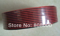 Free shipping 100m 2pinTinned copper  Black red wire