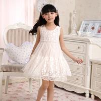 2014 children's summer clothing flower girl one-piece dress gauze child kid's one-piece dress