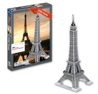 DIY 3D Puzzle Toys World Famous Buildings Colorful Print Pairs La Tour Eiffel Tower France Jigsaw 33 Pc's Set