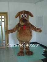 POLYFOAM high quality cartoon mascot costume wags the dog mascot costumes fluffy fur wags mascot costumes brown big tummy dog