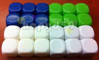 50pcs/lot 16MM blank dice paintless plain engravable DIY multifunctional dice ktv dice chess game accessories teaching dice