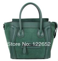 Europe and America popular female smiley bag medium scrub color blocks bag free shipping B-132