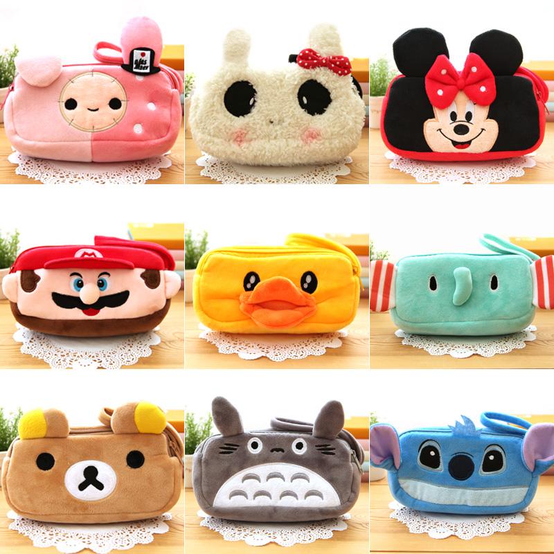 Hot Cute Cartoon Soft Plush Panda Pencil Pen Card Case Cosmetic Makeup Bag Pouch Stuffed Toy Pencil-case Bags Kids Girls Gift(China (Mainland))
