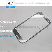 Front Screen Glass Lens  gray colour for Samsung Galaxy S3 i9300 Free shipping