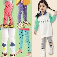 Children's clothing female child legging 2014 spring print all-match elastic legging child basic long trousers