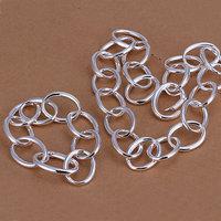 S091 925 silver jewelry set,classic style,fashion jewelry,Nickle free women,chains, Multi-O Two-Piece Jewelry Sets