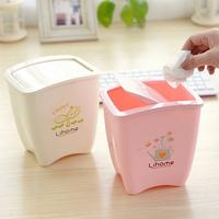 4629 Free shipping minimum order $10 (mix order) fashion Korean style bird household mini bucket garbage plastic storage bucket