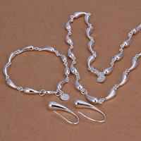 S188 925 silver jewelry set,Nickle free women,chains Droptear Earrings Bracelet Necklace Jewelry Sets