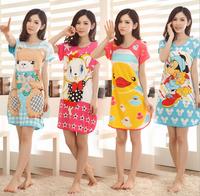 [alice]free Limited None Shipping 2014 New Women's Short-sleeve Cartoon Pure Cotton Sleepwear , Ladies Summer Pajamas ,8 Models