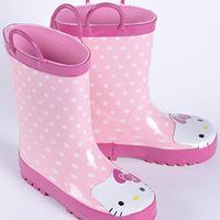 Freeshipping 2014 New children Rain Boots Rubber non-slip Hello Kitty Waterproof girls Boots kids Rainboots