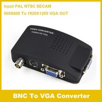 Free shipping high quality  Video S-video BNC to VGA Converter Adapter