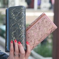 2014 female color block double layer flower pattern double cutout women's flip design long wallet