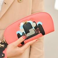 2014 fashion car key rivets women's long design wallet women's wallet