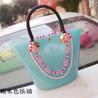 Candy bay candy color BOSS bucket bag jelly bag handbag 2013 women's handbag bag
