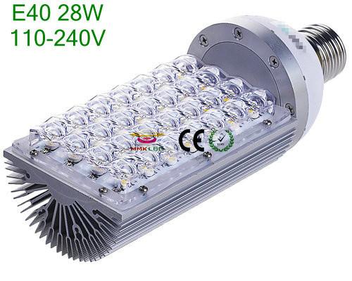 E40/E27 28W LED street Road light Lamp Bulb White/warm white AC110-240V Energy Servering(China (Mainland))