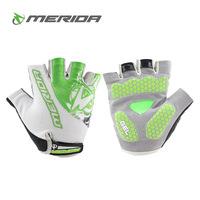 Dropship 2014 MERIDA Summer GEL Mountain Bike Bicycle Half Finger Cycling Gloves for Men & Women in 3 Colors