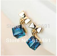 New fashion  bow ear cuff  crystal ear clips earring personality Korean18k plated earrings 2014 hot earring for women LM-C325